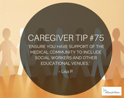 Caregiver Tip #75 : Medical Community Support