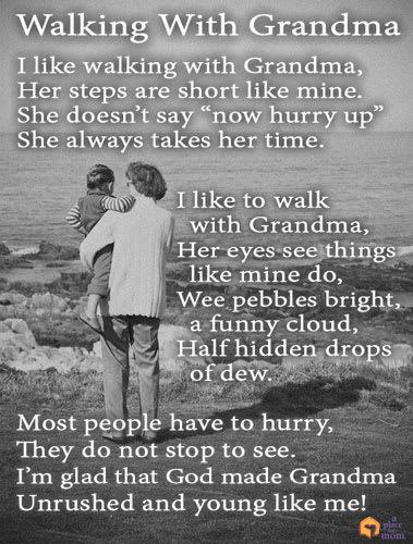 Poem: Walking With Grandma