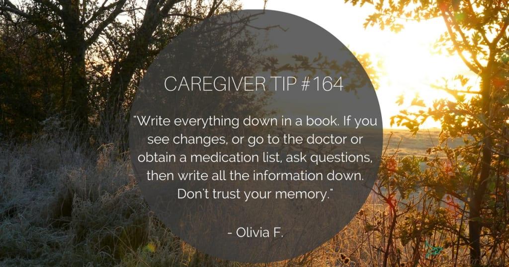 Caregiver Tip #164