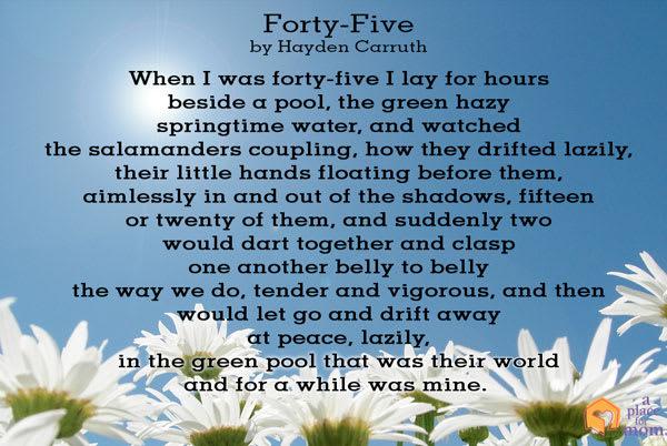 Poem: Forty-Five