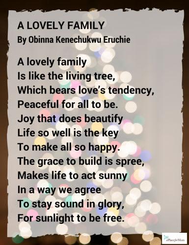 Poem A Lovely Family
