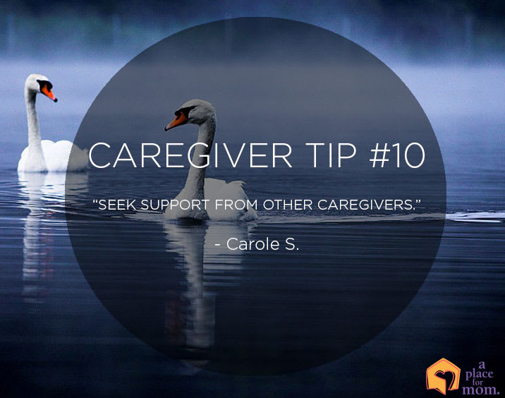 """Seek support from other caregivers."""