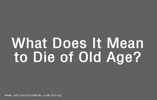 To Die of Old Age Graphic