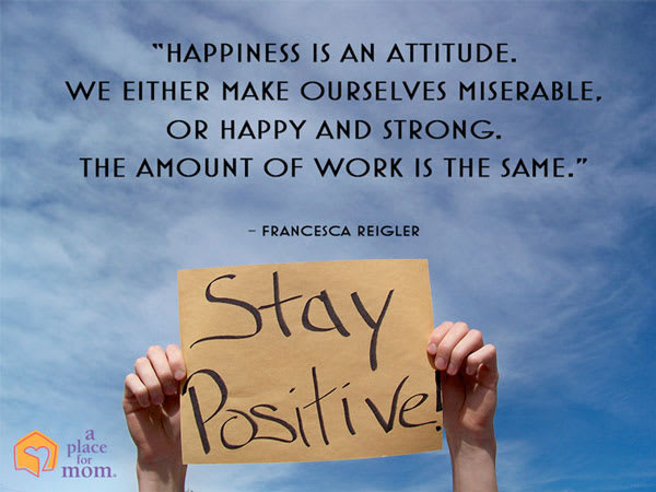 Happiness Is An Attitude Quote by Francesca Reigler