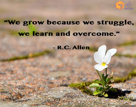 Grow Because We Struggle Quote