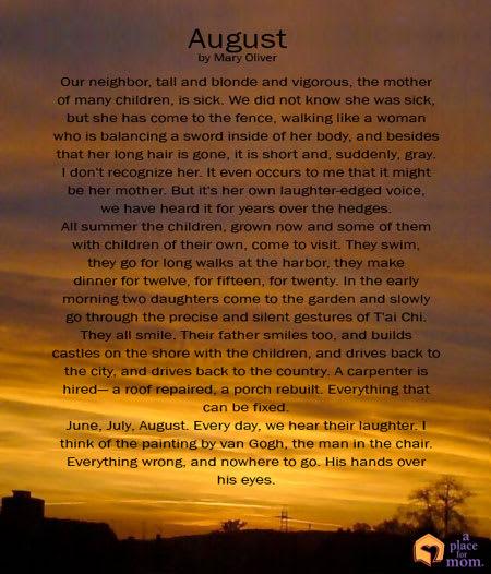 Poem: August
