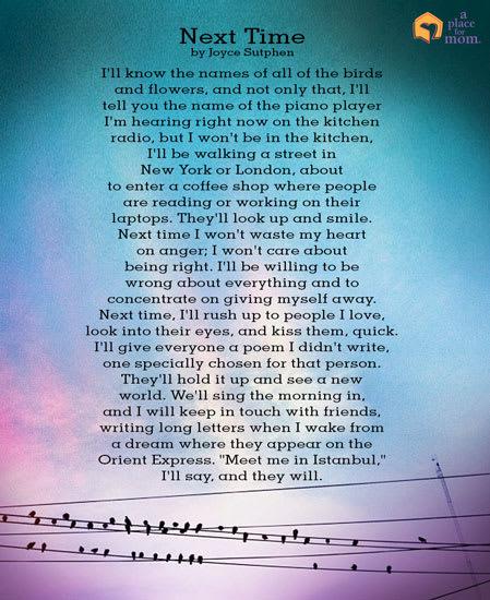 Poem: Next Time