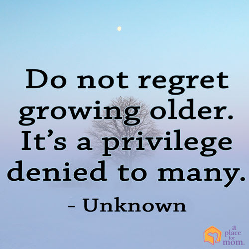 Quote: Do Not Regret Aging
