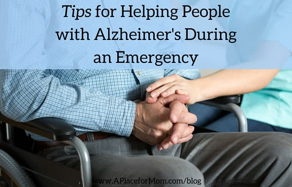Tips for Helping People with Alzheimer's During an Emergency