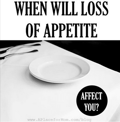 When Will Loss of Appetite Affect You?