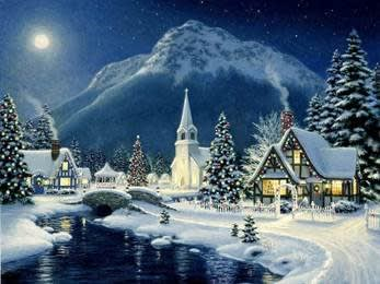 winter scene from A votre service! housekeeping