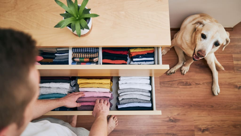 An organized clothing drawer thanks to tips on home organization