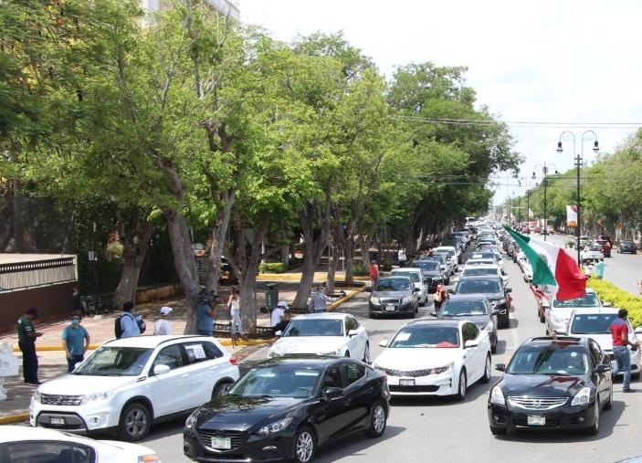 Protestan contra políticas de AMLO en Mérida y más de 60 ciudades
