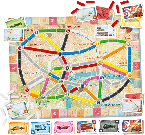 Ticket to Ride London board