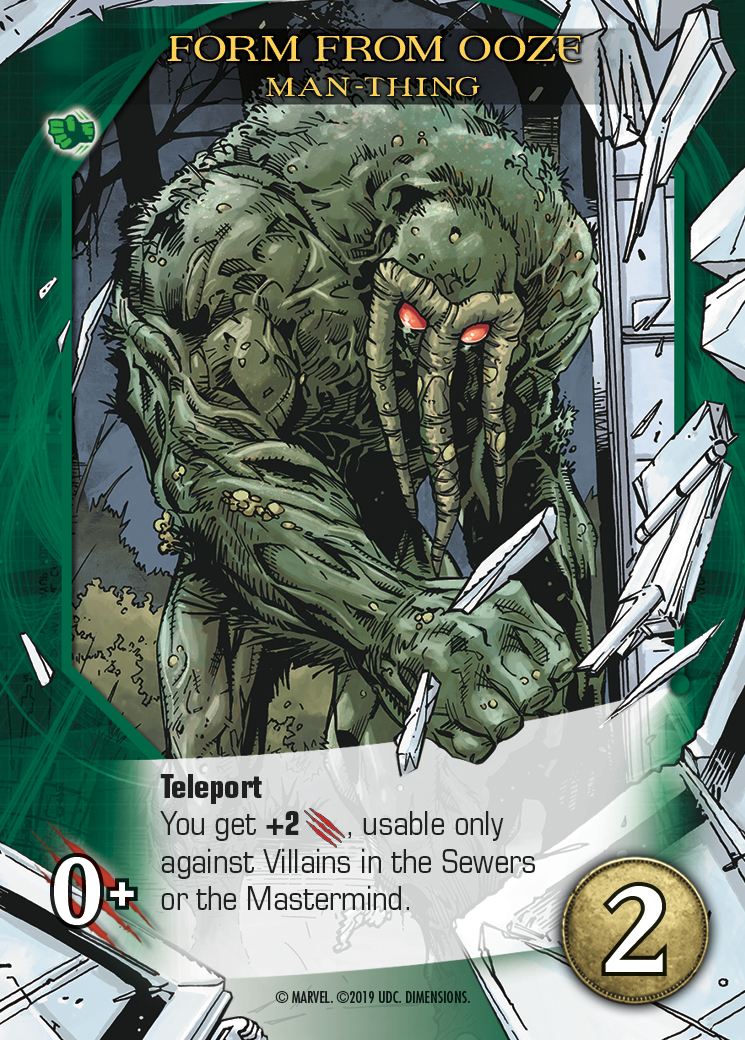 Man-Thing in Marvel Legendary :)