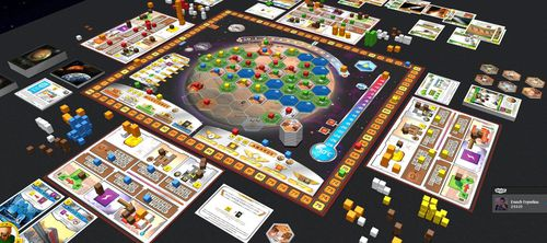 A game of Terraforming Mars at it's end.