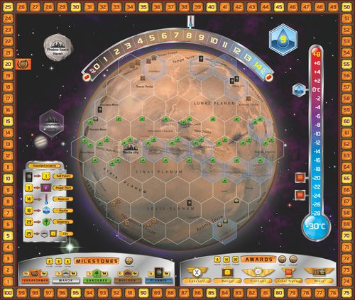 the Terraforming Mars board