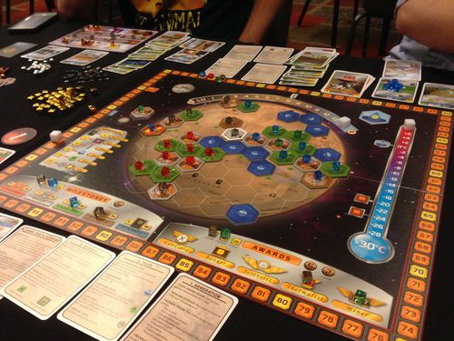 Terraforming Mars in action