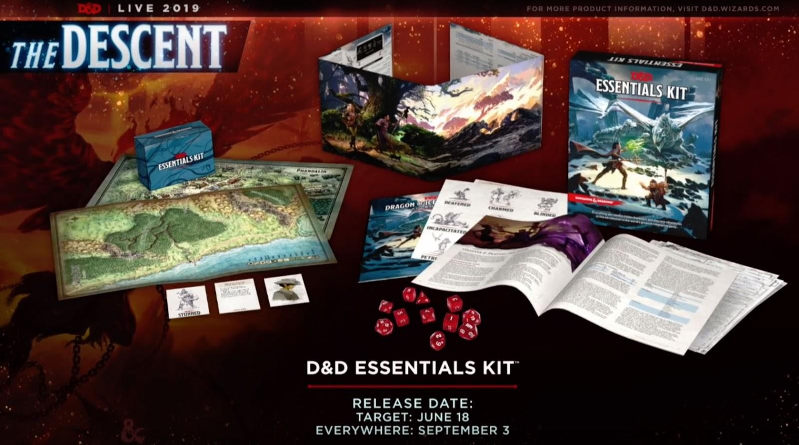 D&D Essentials Kit contents