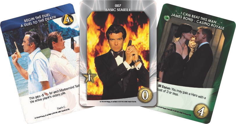 Legendary James Bond cards