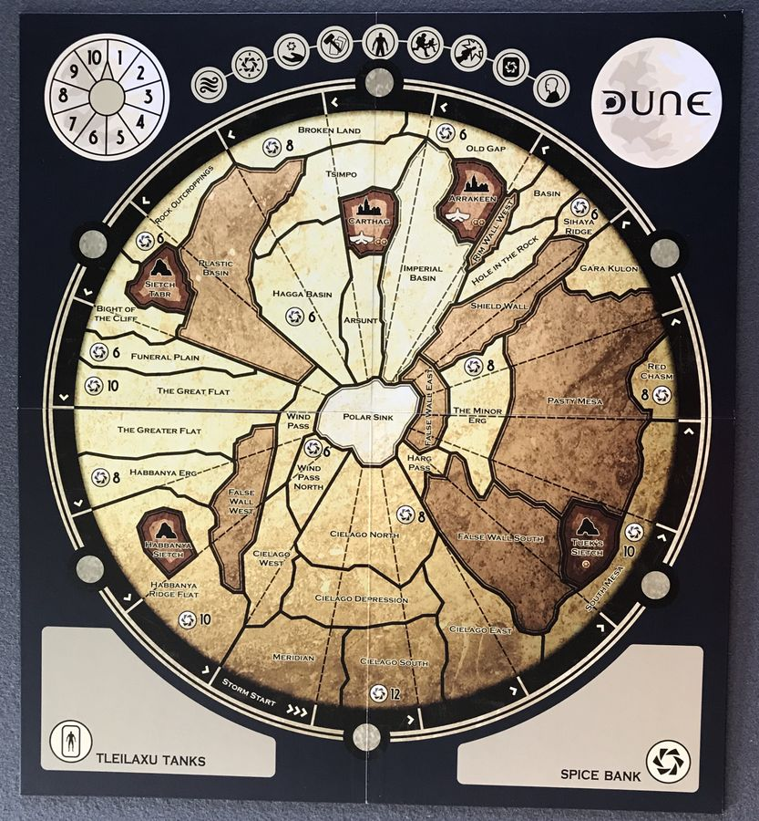 Dune the board game board