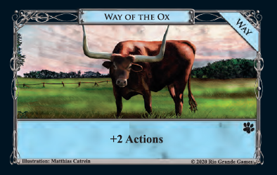 Way of the Ox a new type of card in Dominion: Menagerie