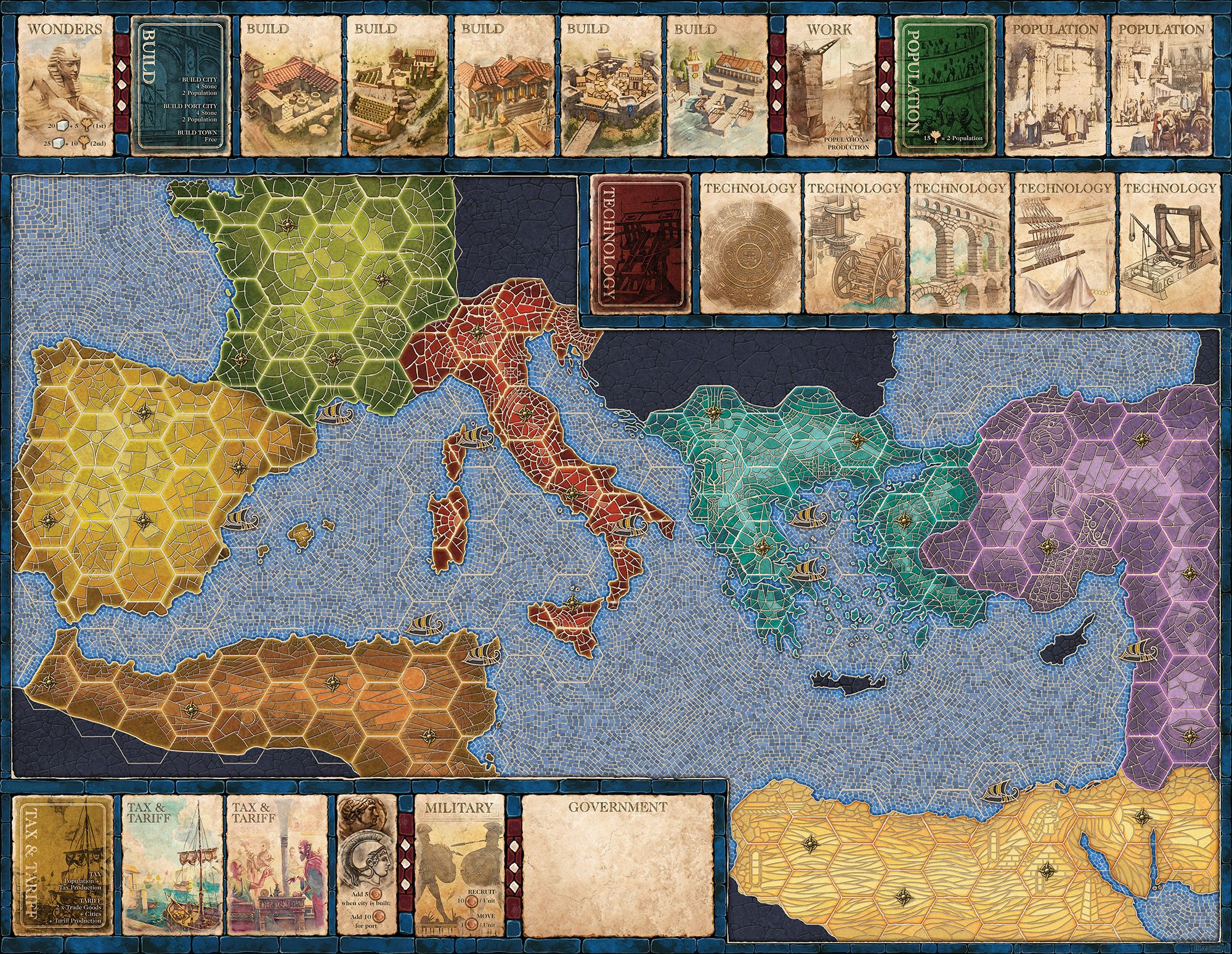 Mosaic the board map