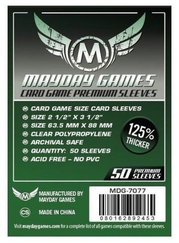 Mayday Games Clear Premium Card Sleeves