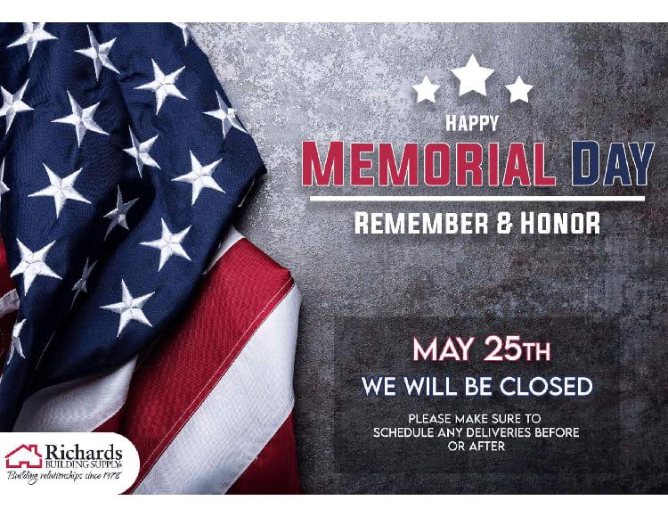 richards memorial day social media post
