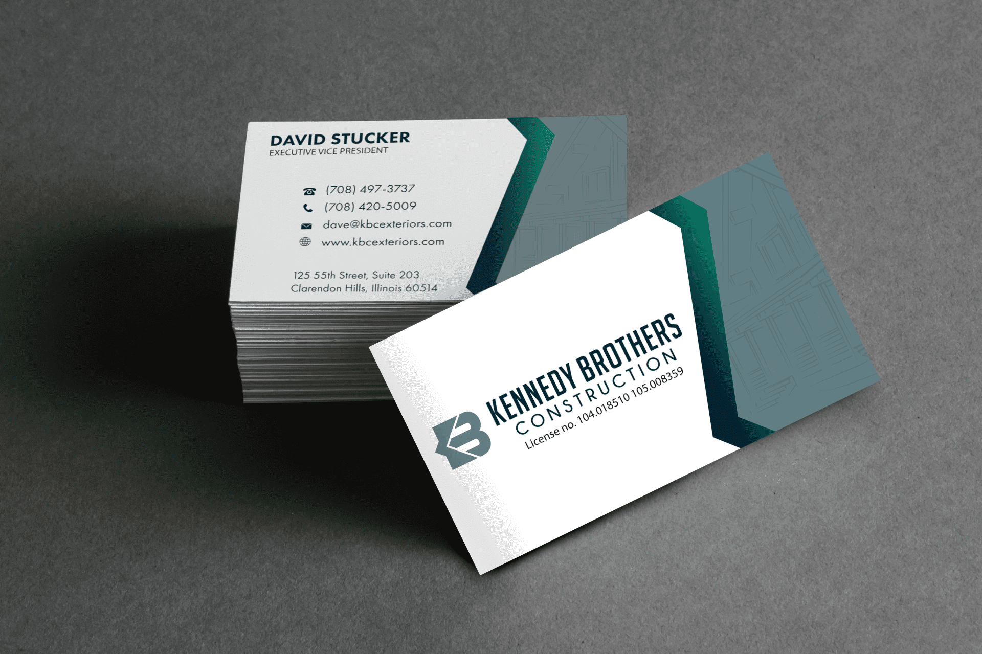 cards for company kbc construction