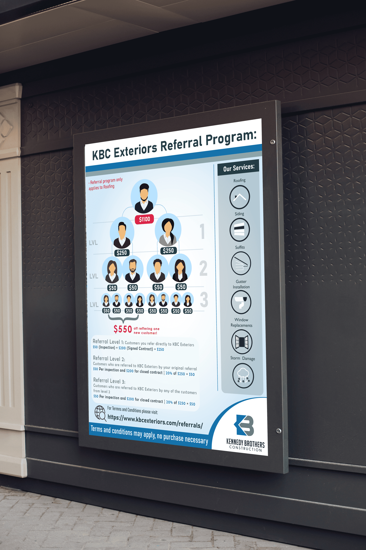 public screen flyer for kbc construction