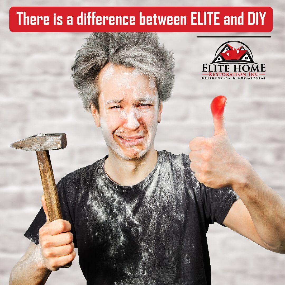 elite home restoration social media post