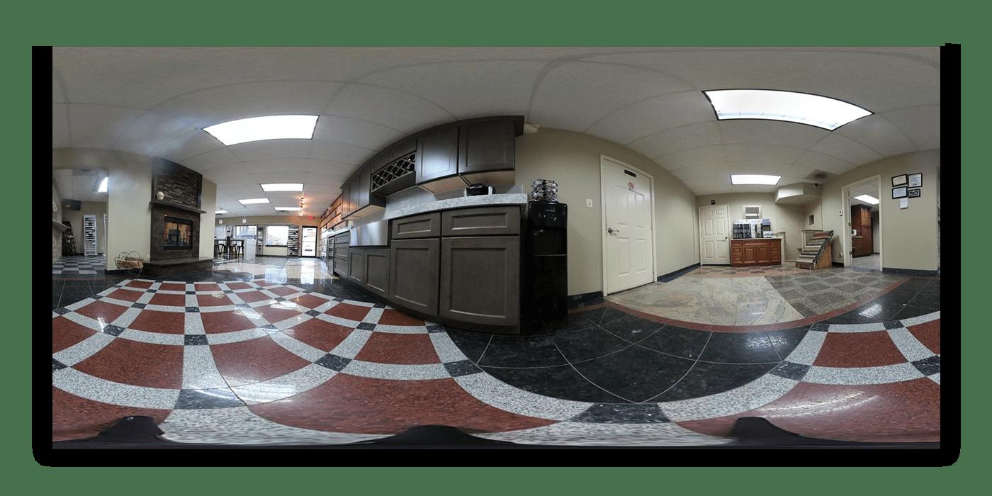 granite solution installation 360 photography