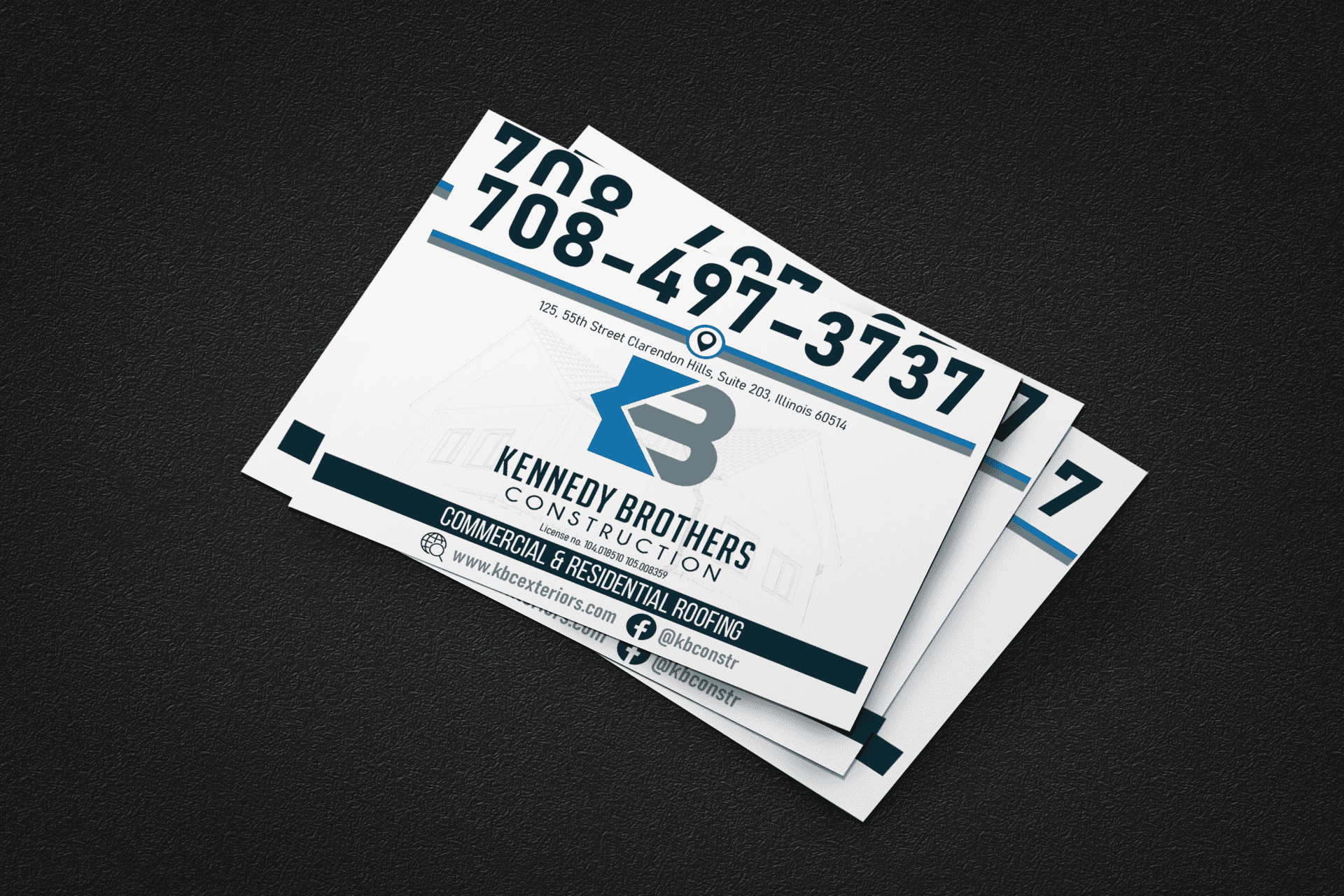 yard sign flyers for kbc construction