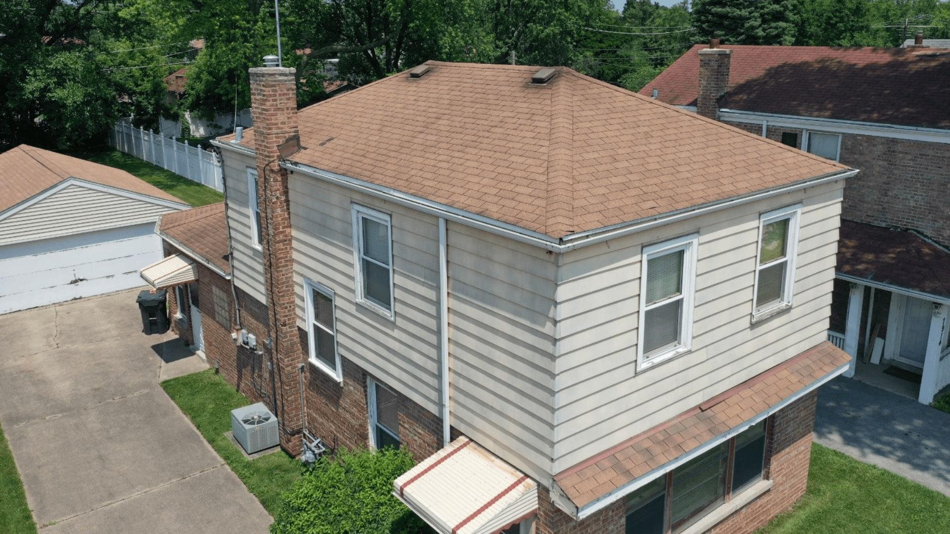 backyard home drone footage