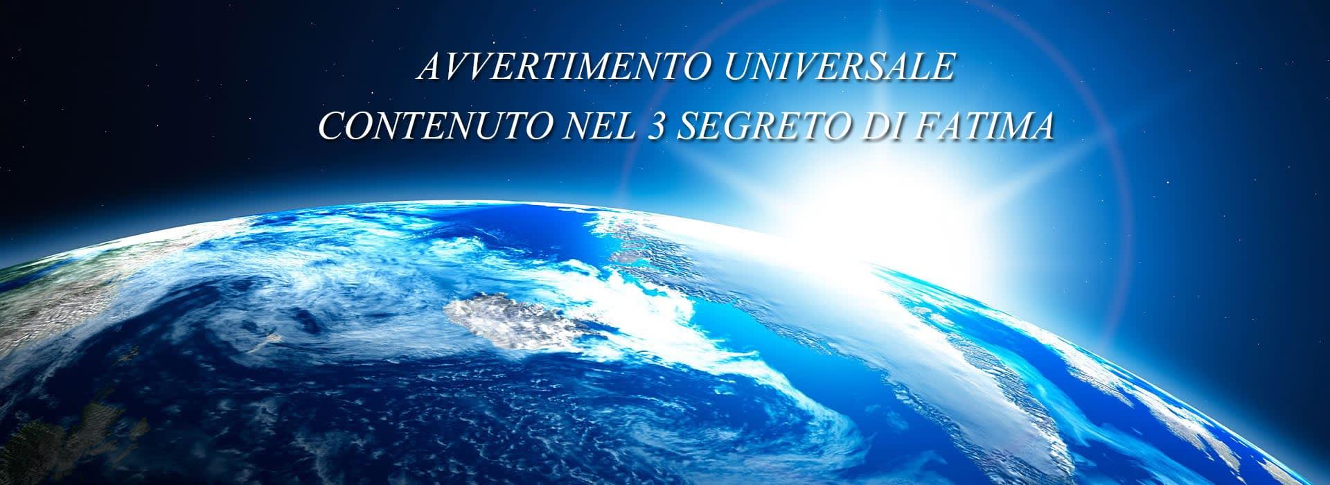 terzo segreto di fatima avvertimento universale