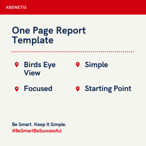 One Page Report Template Text Image