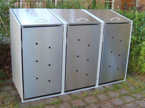 Mülltonnenhaus kaufen: Wo günstig bekommen? [4 Materialvarianten]
