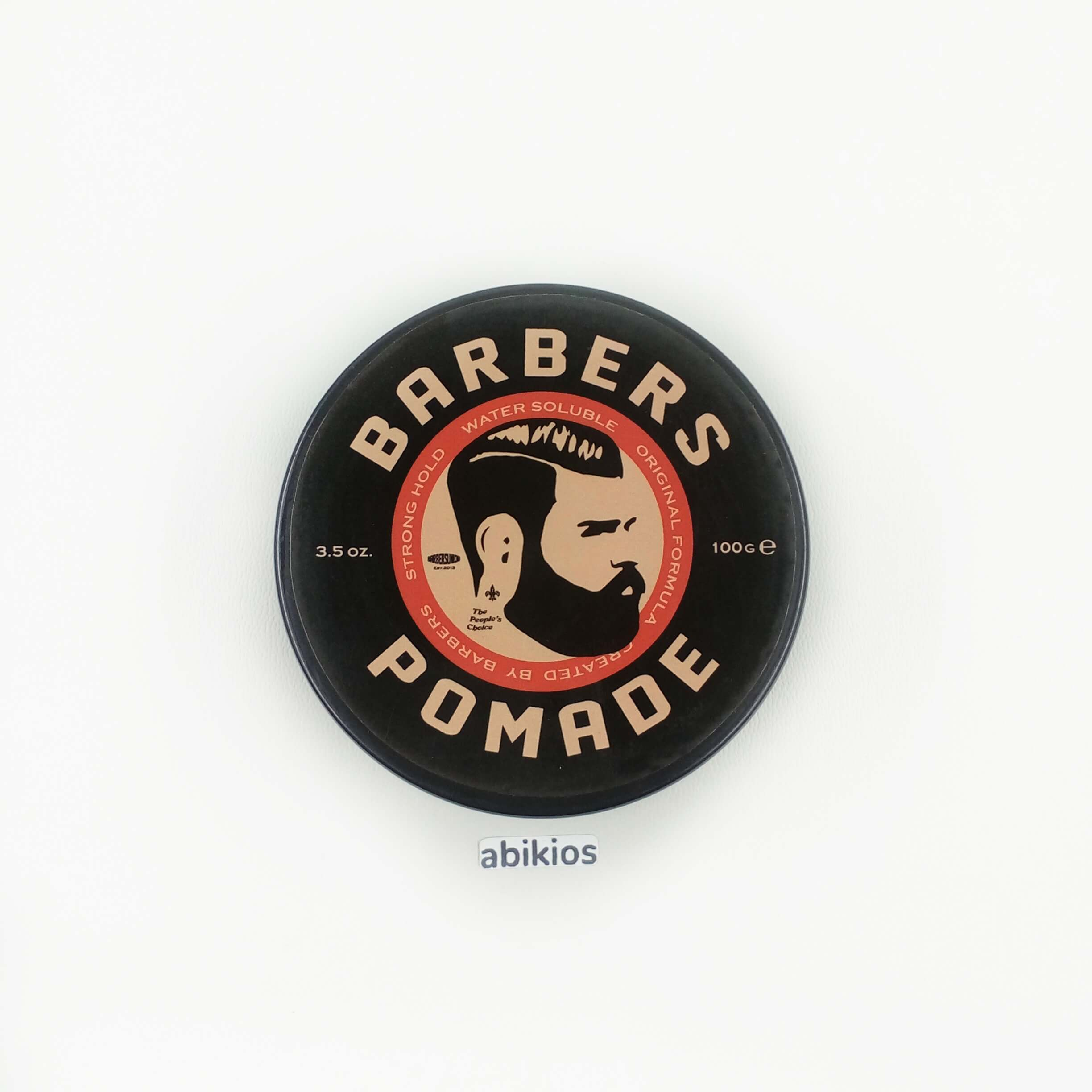Barbers pomade strong hold water based big size .