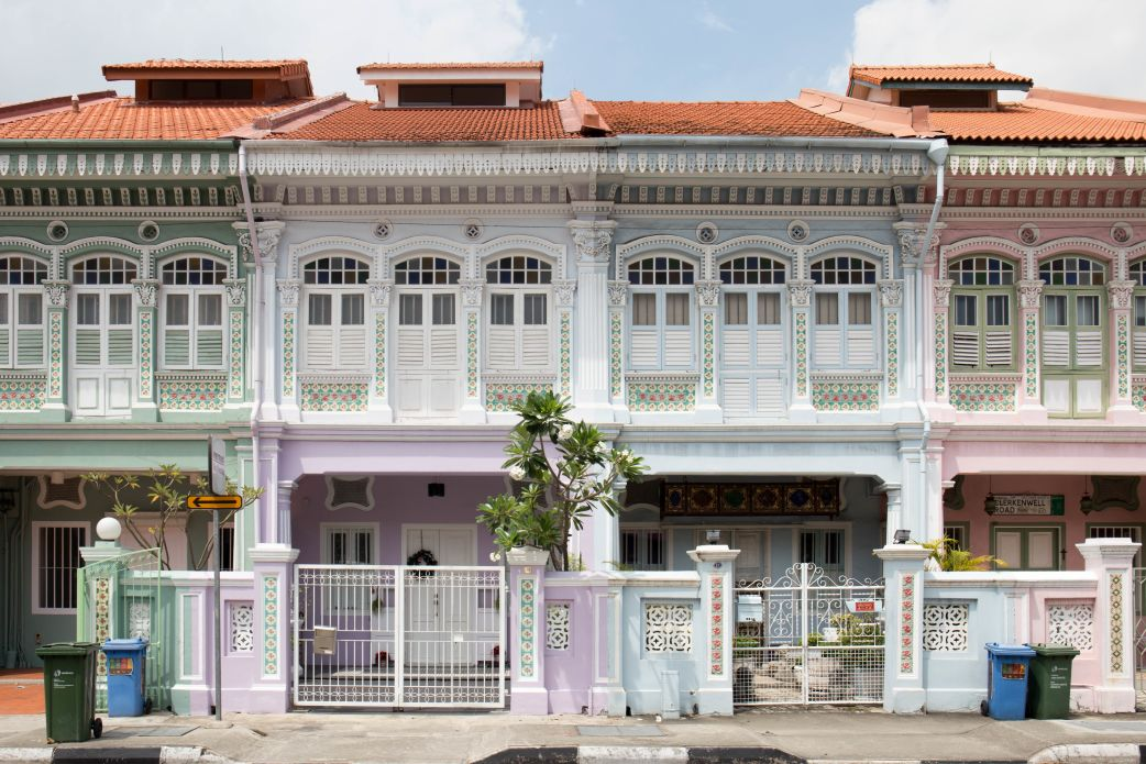Peranakan shophouses in Joo Chiat