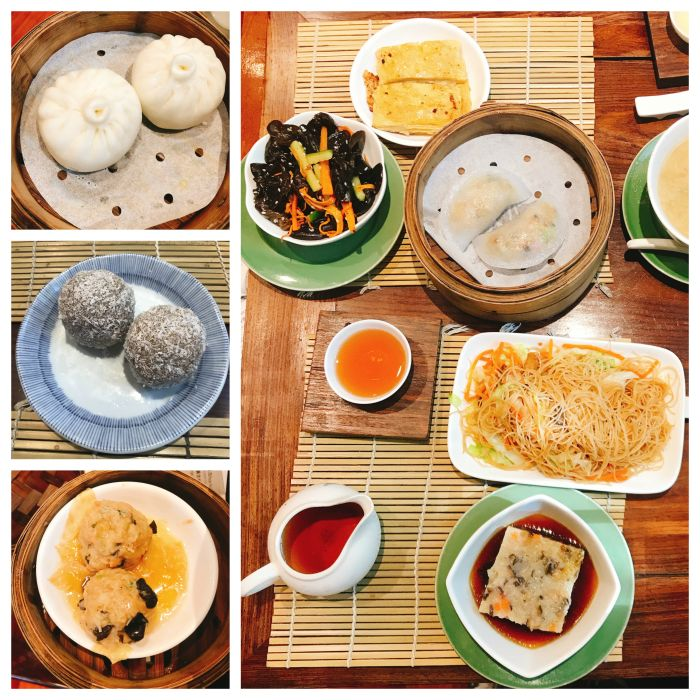 Assortment of dim sum