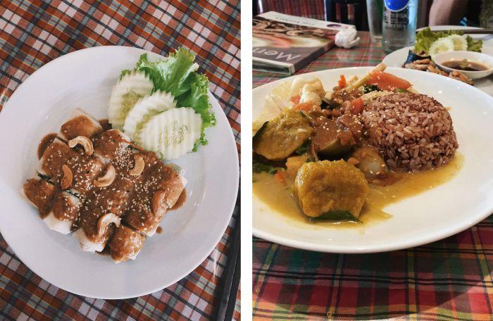 Spring Rolls & Mixed Massaman Curry Rice
