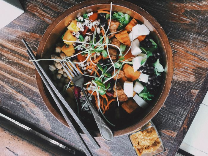 Vegan Tempeh Cobb Salad