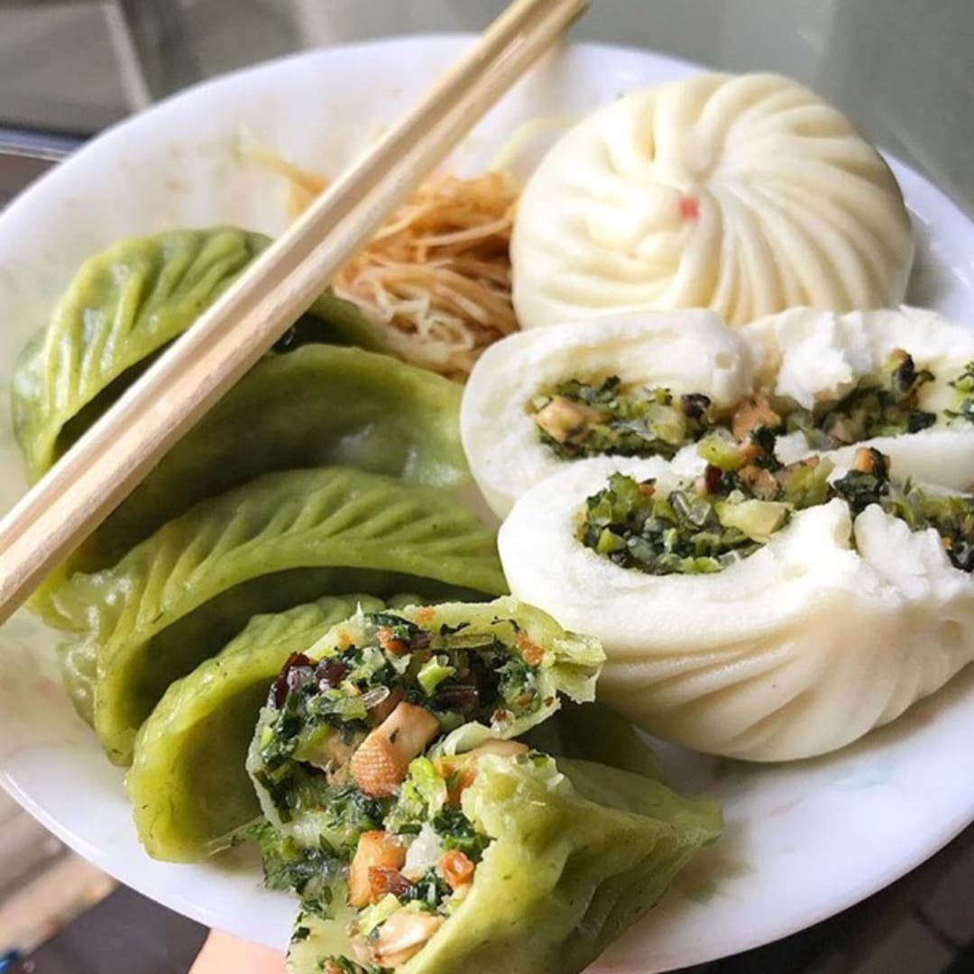 photo of Din Tai Fung Veggie dumplings and pau shared by @peasfulpea on  14 Sep 2018 - review