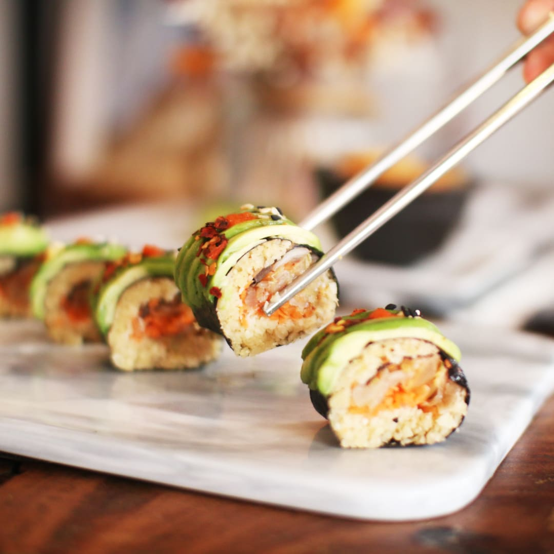Afterglow By Anglow, Outram, Singapore, Afterglow Kimchi Avo Rolls vegan, vegetarian, healthy review