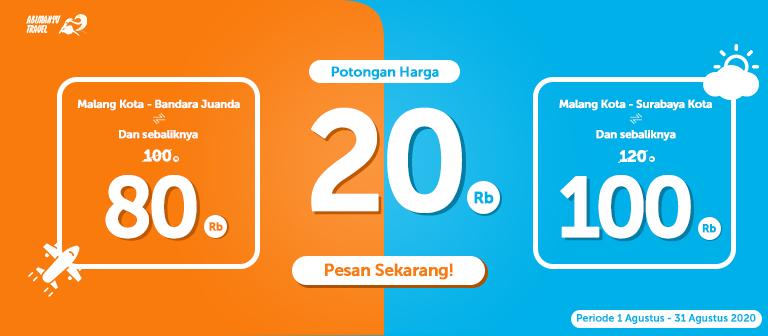 Diskon Travel Surabaya Malang