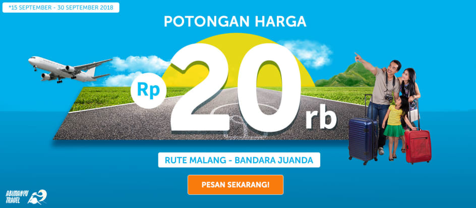 DISKON TRAVEL MALANG JUANDA SEPT