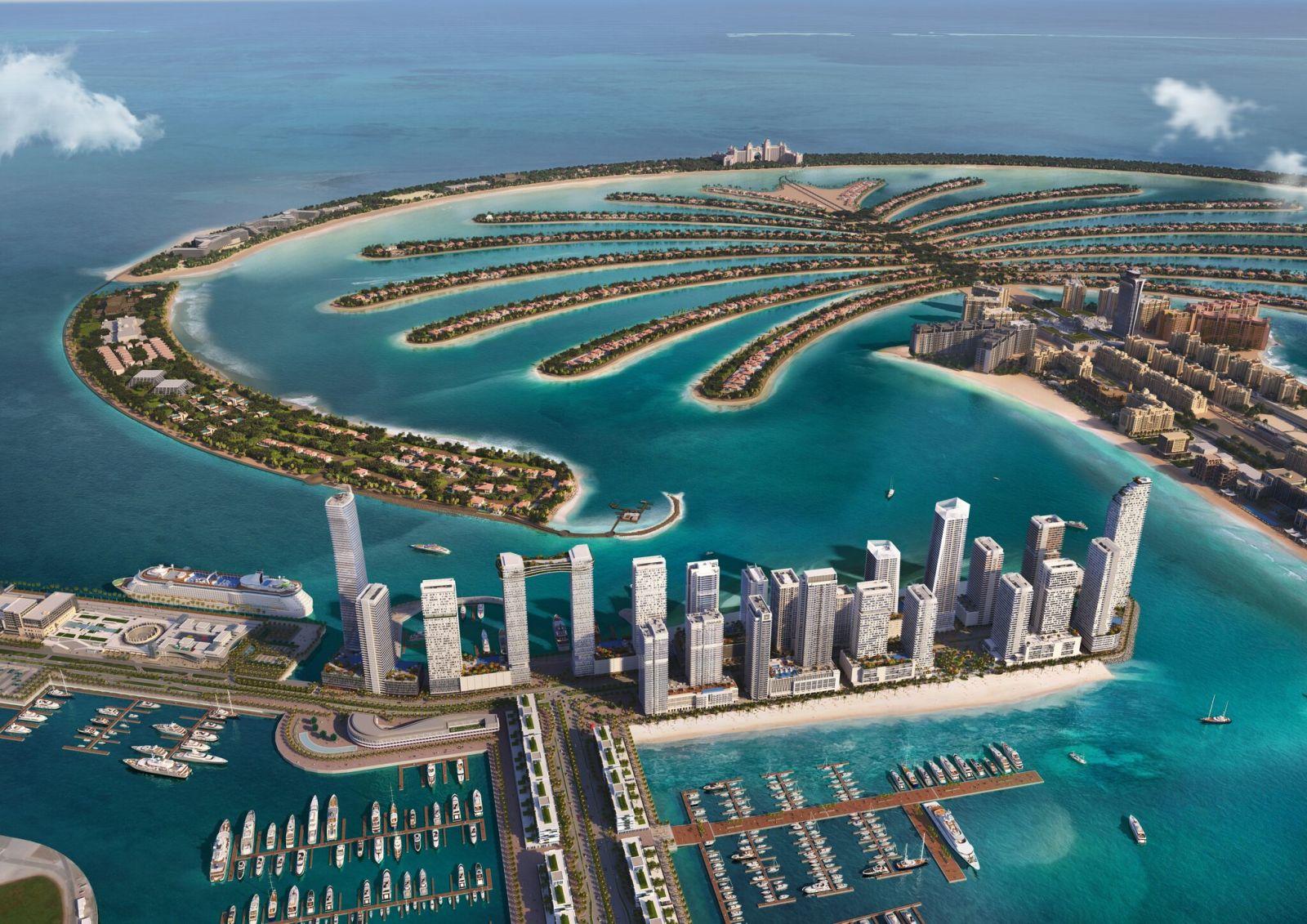 masterplan emaar beachfront marina vista