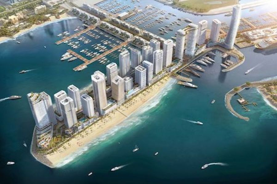 emaar beachfront masterplan
