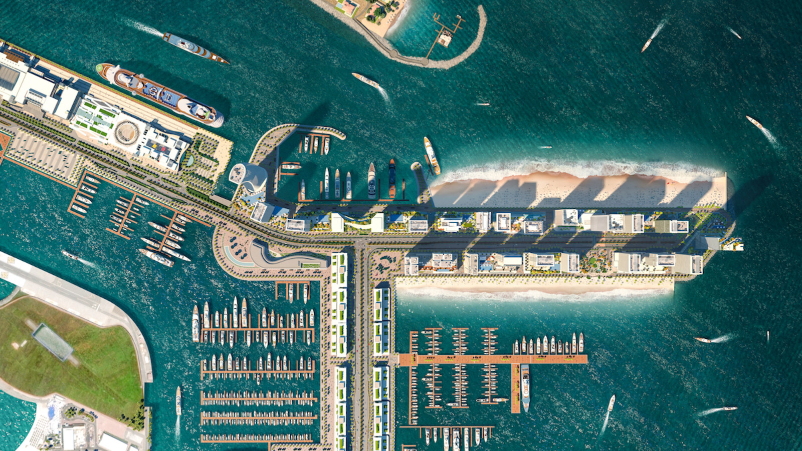 Emaar Beachfront masterplan photo